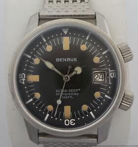 Amazing Vintage 6088 Benrus Ultra Deep Super Compressor Diver w NOS Dial Hands