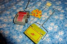 LOT Vintage tin toy Sweeper Broom dust pan Childs Play Set salesman sample