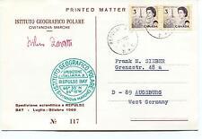 1969 Istituto Geografico Polare Civitanova Marche REPULSE BAY Polar Cover SIGNED