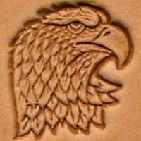 3D EAGLE HEAD RIGHT FACE LEATHER STAMP 88344-00 Tandy Stamping Tool Stamps Tools