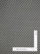 Black Cream Country Check Kitchen Checkered Cotton Fabric VIP By The Yard