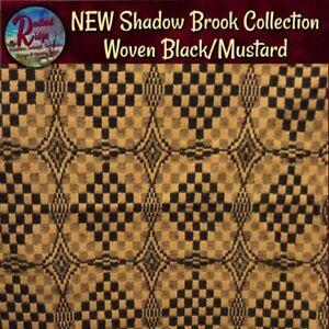 "NEW Shadowbrook Black Mustard Woven Throw Blanket 52""x74"""