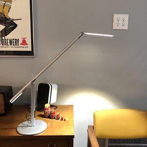 Koncept Equo Touch LED Desk Lamp Satin Nickel Finish Adjustable  Red Dot Award