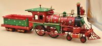 Old vintage toy Locomotive train with carriage Perfect Birthday Gift Decorative