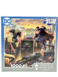 Thomas Kinkade 1000 Piece Jigsaw Puzzle Superman Sealed Justice League