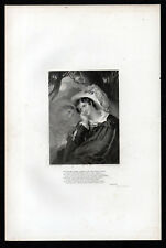 DON JUAN 1833 Charles Rolls - Henry James Richter - Lord Byron ANTIQUE ENGRAVING