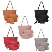 4pcs/set Shoulder Handbags Leather Women Crossbody Bags Clutch Card Holder P4PM