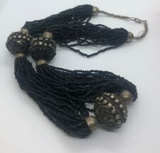 """Vintage Necklace Etruscan Beads African Beads 26"""""""