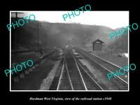 OLD LARGE HISTORIC PHOTO OF HARDMAN WEST VIRGINIA, THE RAILROAD STATION c1940