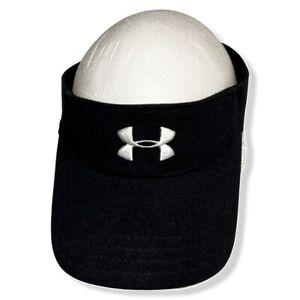 New Under Armour Visor Hat One Size Fits All Golf Black Adjustable Strap UA