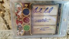 ANDREW LUCK / WILSON/GRIFFIN III 2013 TRIPLE THREADS JERSEY AUTO  #'RD 18/18 HOT