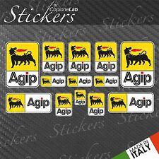 Set 13 Adesivi AGIP BIG Style Sponsor Tecnici auto moto vari