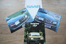 SAAB 99 BROCHURES - UK SALES BROCHURE 1972 1974 - 99L - JOB LOT