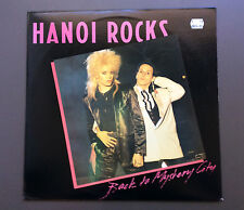 HANOI ROCKS - Back To Mystery City LP Vinyl Record Good+ 1984 USA Pressing