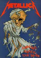 METALLICA 1988-1989 DAMAGED JUSTICE TOUR CONCERT PROGRAM BOOK BOOKLET-NMT 2 MINT