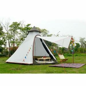 Double Layer 2 persons Teepee Tipi Tent Yurt Family Glamping Lightweight Outdoor
