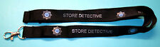 SIA Store Detective black neck lanyard with logo