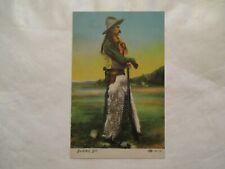 Buckskin Bill Wooly chaps Cowboy Postcard