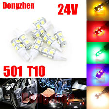 1X 24V 501 T10 W5W DRL PUSH WEDGE 9 LED 360 DEG XENON WHITE SIDE LIGHT BULBS