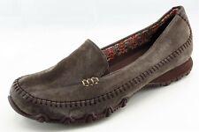 Skechers Size 10 M Brown Slip On Walking Leather Wmn Shoe