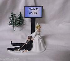 Wedding Party Reception ~Golf Ball & Golf Club~  Golfer Game Over Cake Topper