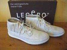 Ladies LEGERO 854 TRAPANI White SUEDE Lace FRINGE Boot Size UK 4 EUR 37 New