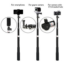 Extendable Selfie Stick Monopod + Universal Tripod Stand for GoPro 5/4/3+/3/2/1