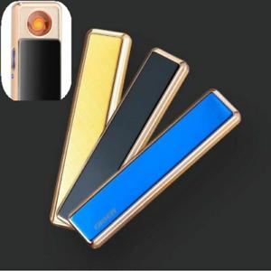 Electric Lighter USB Rechargeable Flameless Windproof Slim Design Super Light
