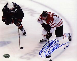 Brenden Morrow SIGNED 8x10 Photo Team Canada PSA/DNA AUTOGRAPHED
