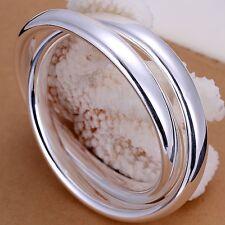 Silver Double Bangle Infinity Intertwined Bracelet