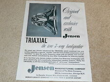 Jensen G-610 Triaxial Speaker Ad, 1956, 1 pg, Beautiful Rare Ad, FRAME IT!