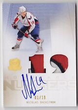 09-10 The Cup NICKLAS BACKSTROM Auto Numbers Patch #d 1/19