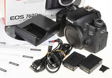 Canon EOS 760D / 8000D / Rebel T6s camera body +box, 2 batteries, USB cable...