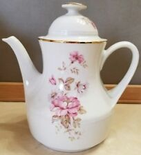 Vintage Winterling Roslau Bavaria Porcelain Coffee Tea Pot Pitcher Roses FS
