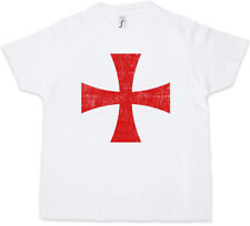 TEMPLAR CROSS I Kids Boys T-Shirt Templer Orden Kreuz Templerorden Ordo Red
