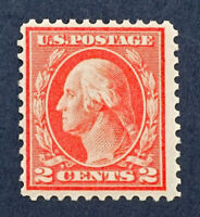 Scott US #461 -1915 Washington 2 Cents; Mint Never Hinged; OG; CV=$325