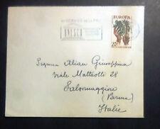 ANNULLO MECCANICO UNESCO - BOLLO FRANCIA EUROPA - 1958