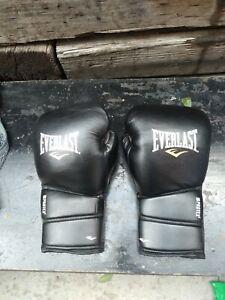 Everlast ProTex2 Boxing Gloves Training Foam Ever Cool EUC Black 16 oz