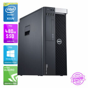 Dell Precision T5600 Poste de Travail PC Xéon - E5 - 32GB RAM 480GB Sdd - K4000