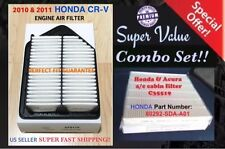 Premium Quality Engine & Cabin Air Filter for HONDA CRV 10-11 CR-V AF6119 C35519