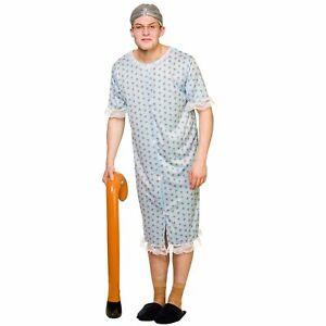 Granny Old Woman Novelty Comedy Grandma Adults Mens Womens Fancy Dress Costume