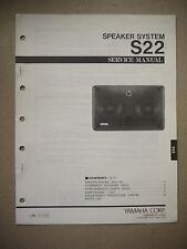 Yamaha Speaker System S22  Service Manual