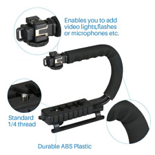 Video Camera Action Stabilizer Stabilizing Handle Grip Rig with 3 Shoe Mounts