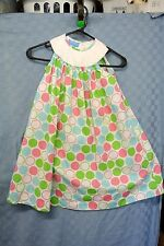 Anavini Girls Hand Smocked POLKA DOTS EASTER SUMMER PLAY DRESS SIZE 4