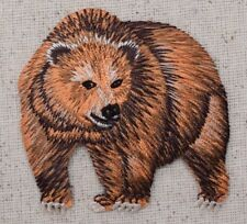 Brown Grizzly Bear - Wild Animals/Zoo/Forest Iron on Applique/Embroidered Patch