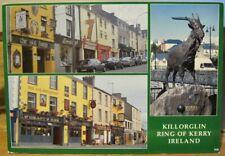 Irish Postcard KILLORGLIN Multiview King Puck Fair Pubs Goat Kerry Ireland Mac