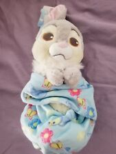 """Disney Parks Thumper Baby Plush with Blanket Pouch 10"""" Babies New with Tags"""