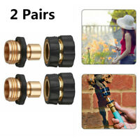 "Brass Attachment Nozzle Garden Hose Coupling Thread Quick Connect Female 3/4"""