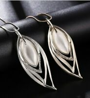 Damen 75cm Halskette Schmuck Collier mit Anhänger Silber lange Kette Luxus Mode