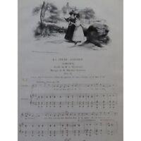 LABARRE Theodore Al joven ciego Chant Piano ca1830 partitura sheet music score
